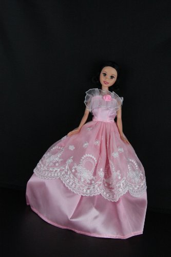 A Beautiful Pink Party Dress Made to Fit the Barbie Doll, Baby & Kids Zone