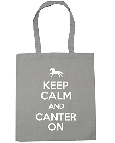 x38cm Riding and Shopping 10 Tote On Grey HippoWarehouse Calm Keep Horse 42cm Canter Beach Bag Light litres Gym qYxOCwp