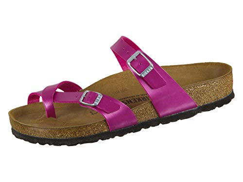 - Birkenstock Women's Mayari Adjustable Toe Loop Cork Footbed Sandal MTLC Mgnta 36 M EU