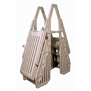 Blue Wave NE115T Neptune A-Frame Entry System for Above Ground Pool, Taupe