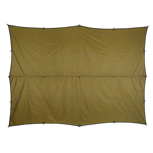 OneTigris All-Season Tarp in Coyote Brown, Camping Hammock Tarp, Ripstop Tent Shelter 13 by 10ft