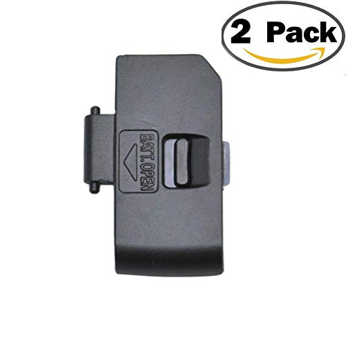 2Pack Battery Door Cover for Canon EOS 1000D 450D 500D Rebel XS XSi T1i Replacement Repair Lid Cap