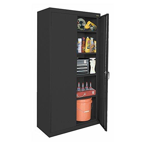 Sandusky Lee CA41361872-09, Welded Steel Classic Storage Cabinet, 4 Adjustable Shelves, Locking Swing-Out Doors, 72
