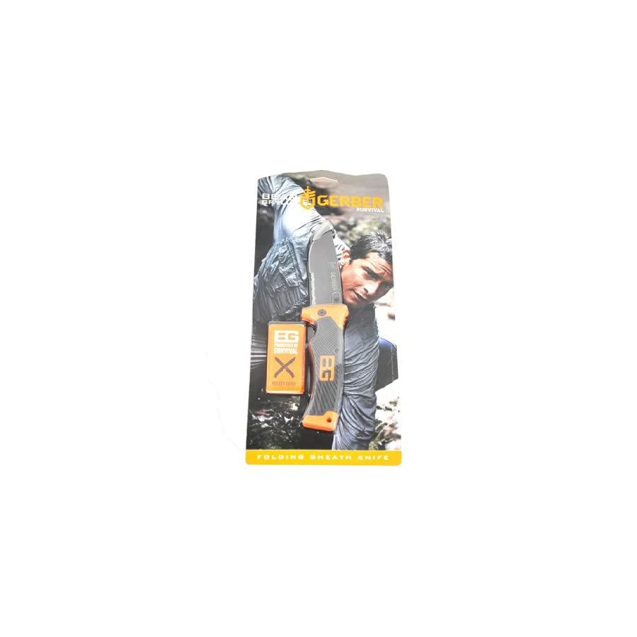 Gerber Bear Grylls Folding Sheath Knife, Serrated Edge [31 000752]