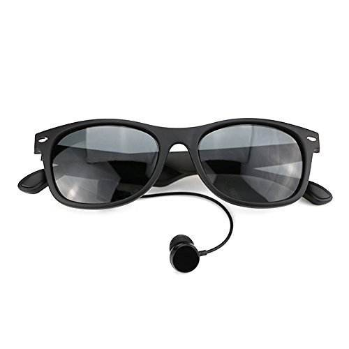 KKmoon K3-P Bluetooth Sunglasses Wireless Music Headphone Polarized Glasses Bluetooth 4.1 Noise Cancellation Hands-free w/ Mic Black for iPhone Samsung Android iOS Smart Phones Tablet - Sunglasses 75 Off