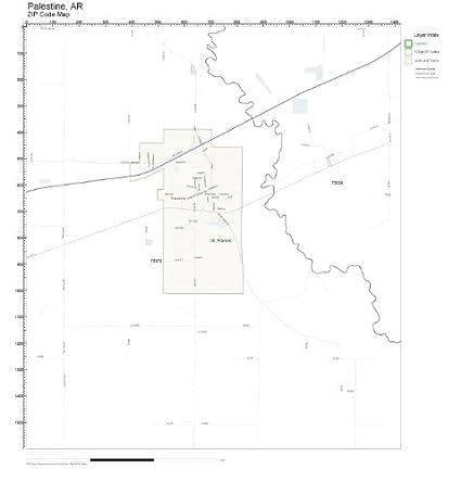 Zip Code Map Arkansas.Amazon Com Zip Code Wall Map Of Palestine Ar Zip Code Map Not