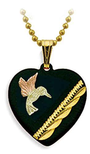 Heart and Cross Black Pendant Necklace, 10k Yellow Gold, 12k Green and Rose Gold Black Hills Gold Motif, 18'' by Black Hills Gold Jewelry