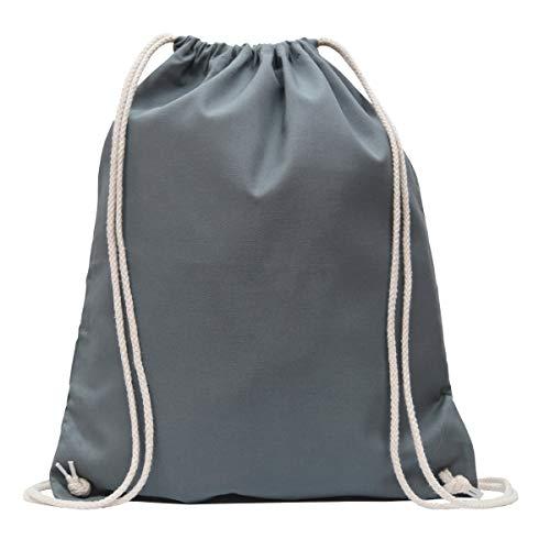 MyShirt Baumwoll Turnbeutel 38 x 46cm unbedruckt mit Kordelzug - 19 Farben - Jutebeutel Oeko-TEX® geprüft Gym Sack zum bemalen