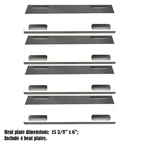 (Direct store Parts DP121 (4-Pack) Stainless Steel Heat Shield/Heat Plates Replacement Ducane/Ducane Affinity Series Gas Grill Models)