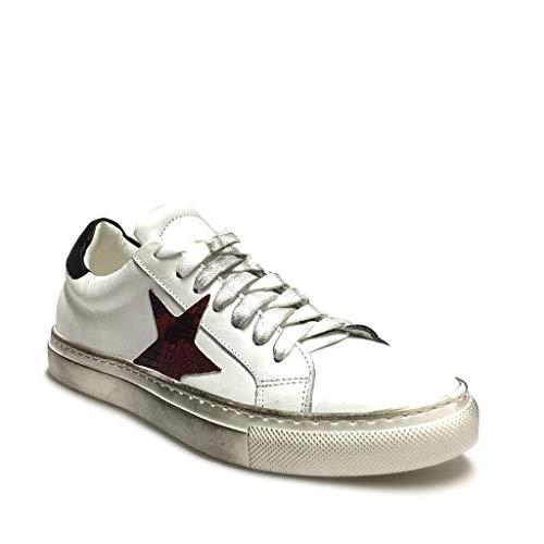Sneakers Con Bianco In Rosso Stella Pitone Pelle Italy Vera Made Bianche Donna rEwAar