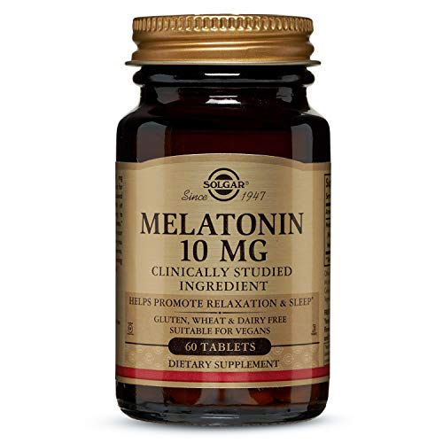 Solgar Melatonin 10 mg Clinically Studied Ingredient, Helps Promote Relaxation & Sleep, Suitable for Vegans, 60 Tablets
