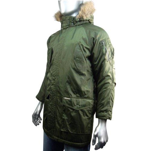 3160b1ef3f7d Boys Ben Sherman Parka Green Retro Hooded Mod Jacket Coat Kids ...