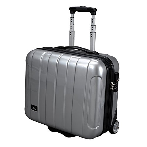 JSA 45523 - Businesstrolley aus ABS-Polycarbonatmix, silber