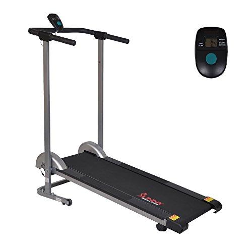 Sunny Health & Fitness SF-T1407M Manual Walking Treadmill, Gray by Sunny Health & Fitness (Image #1)