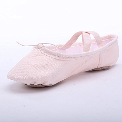 Image of STELLE Girls Canvas Ballet Slipper/Ballet Shoe/Yoga Dance Shoe (Toddler/Little Kid/Big Kid/Women/Boy)