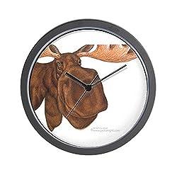 CafePress Moose Head Antlers Wall Clock Unique Decorative 10 Wall Clock