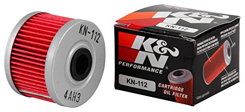 KN-112 K&N Performance Oil Filter; POWERSPORTS CARTRIDGE (Powersports Oil Filters):