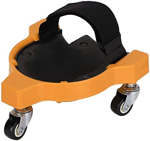 Haofy Multifunktionales, verschiebbares Kniepolster Arbeitssparendes Universalrad Holzbearbeitungskniepolster , Mit verstellbarem Universalrad für den Innen- und Außenbereich(Gelb)
