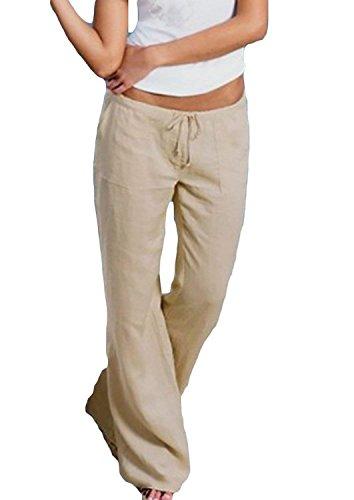 Giovane Coulisse Baggy Pantalone Morbidi Donna Khaki Semplice Moda Nahen Lunga Pantaloni Eleganti Pantalone Pants Interna Taille Tasche Pantaloni In Primaverile Di Moda Larghi Glamorous Mare Laterali AXvqBnSXw