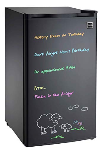 Igloo FR326M-D-BLACK Erase Board Refrigerator with Neon Markers, 3.2 cu. ft, Black