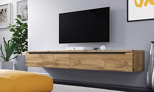 Swift Fernsehschranktv Lowboard In Holzoptik Wotan Eiche Matt Hochglanz Hängend Oder Stehend 180 Cm