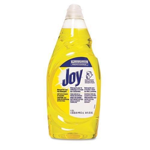 - Joy Dishwashing Liquid, 38 oz Bottle, 8/Carton