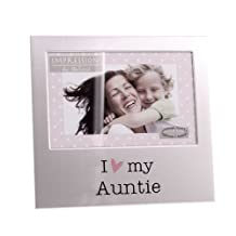 "I Love My Auntie Brushed Aluminium 4"""" x 6"""" Photo Picture Frame"
