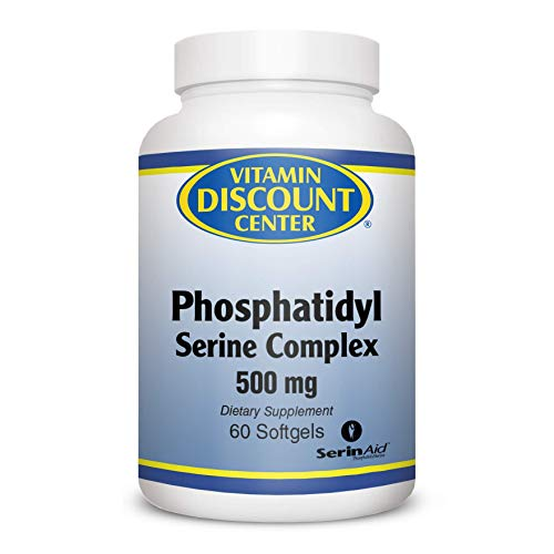 Vitamin Discount Center, Phosphatidyl Serine Complex Dietary Supplement 500 mg, Improve Cognitive Functions, Dairy Free, Gluten Free, Effective and Safe, 60 ()
