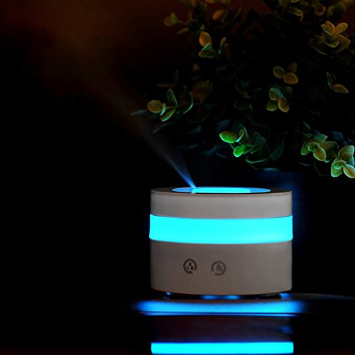 EOWJEED Mini USB Essential Oil Diffuser, 100ml Portable Humidifier, Travel-size Air Humidifier Ultrasonic Cool Mist Aroma Humidifier, Air Purifier for Bedroom, Car, Baby room, Home, Office by EOWJEED