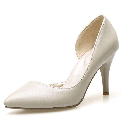 LongFengMa Women Basic D Orsay High Heel Pumps Beige qtMNU