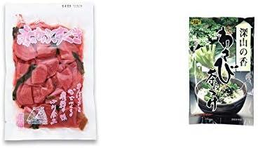 [2点セット] 赤かぶすぐき(160g)・特選茶漬け 深山の香 わさび茶づけ(10袋入)