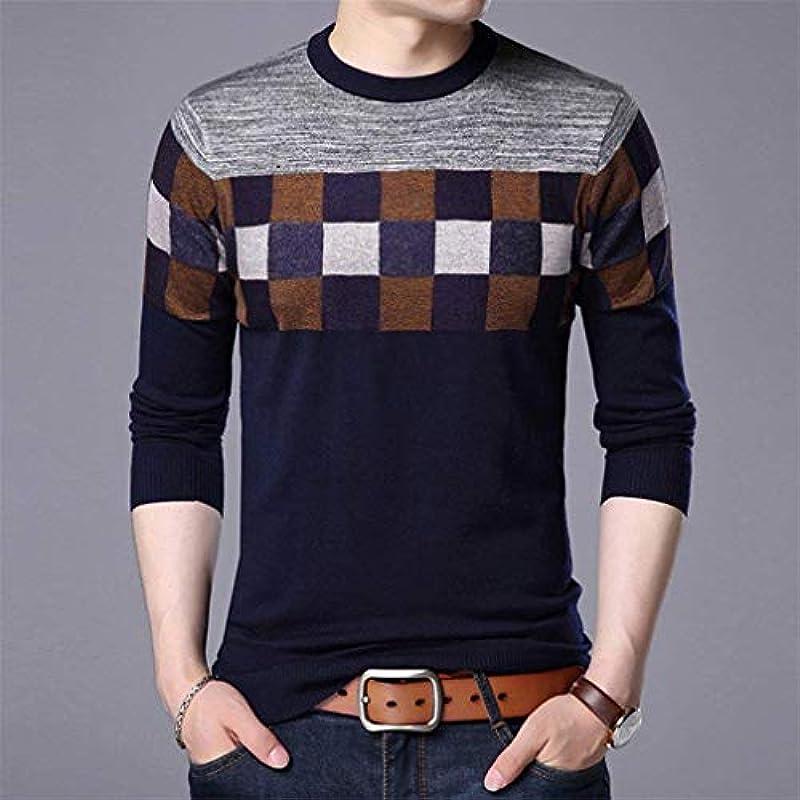 Saoye Fashion męski casual długi rękaw sweter Knit Crew Neck sweter ubranie bluza wiosna jesień elegancki długi rękaw nadruk sweter dziergany: Odzież