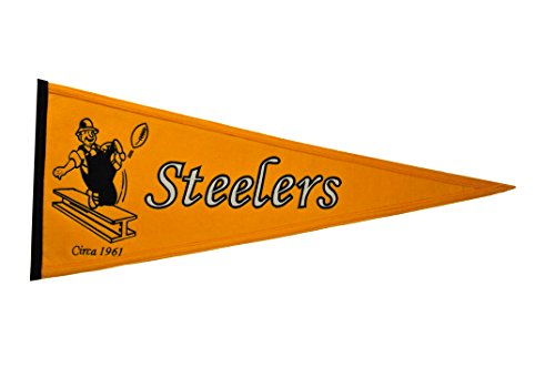 Pennant Pittsburgh Throwback Steelers (Winning Streak NFL Pittsburgh Steelers Throwback Pennant)