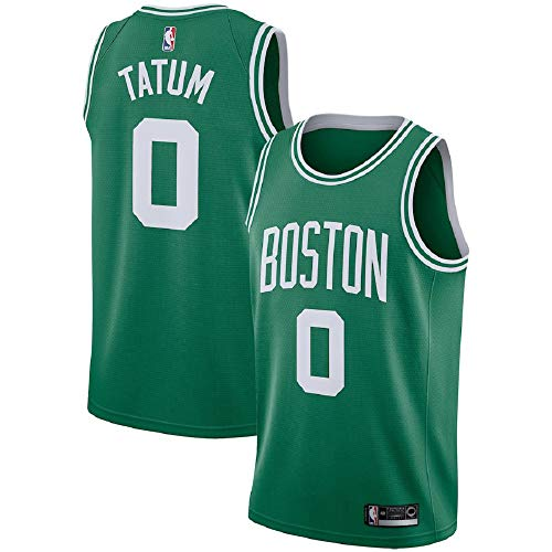 (Majestic Athletic Boston Celtics #0 Jayson Tatum Men's Green Swingman Jersey)