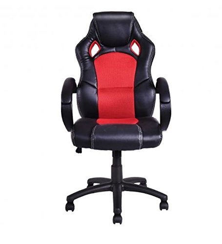 41TOO%2BCQyML - MD-Group-Gaming-Chair-High-Back-Race-Car-Style-Bucket-Seat-Red-Adjustable-Height-Swivel