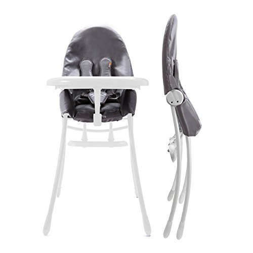 Bloom Nano Urban Highchair, Matt Black/Snakeskin Grey
