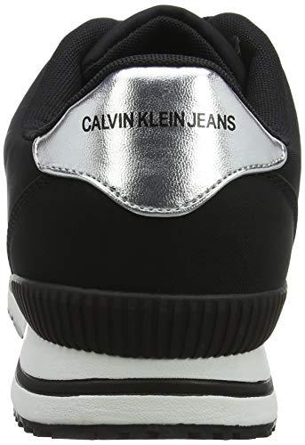 Homme metal Calvin FilmSneakers Elwin silver 000 Jeans Nylon Basses Klein Noirblack PkiuXOZ