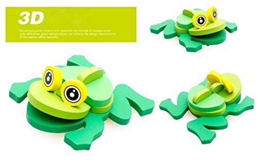 U.D. Let's Make - Children 's Wooden 3D Animal Frog