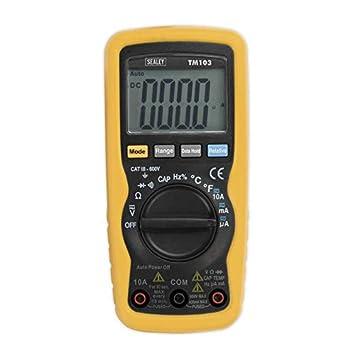 Sealey TM103 Professional Auto-Ranging Digital Multimeter 11 Function