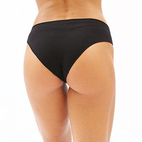 328799bf9e8 Ruxia Women's Hipster Panties Seamless Low-Rise Cheekini Panty Soft Stretch  Bikini Underwear (Multi