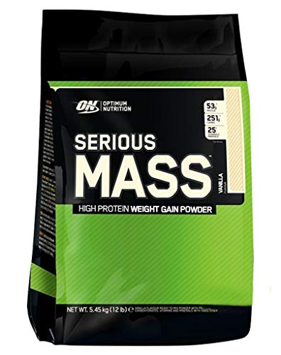 2 x Optimum Nutrition Serious Mass, 5455g Beutel , Cookies in Cream (2er Pack)