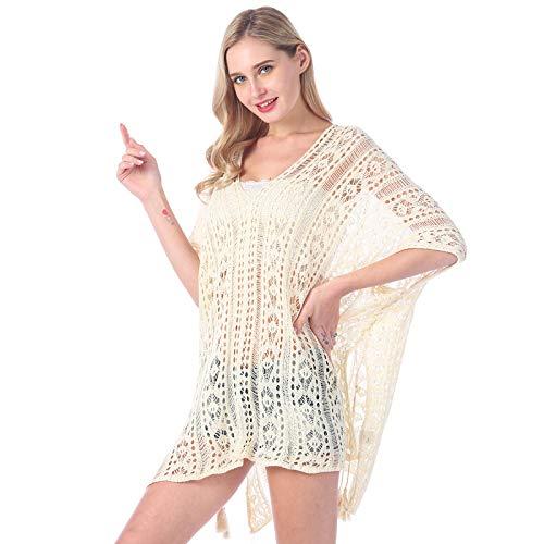 SKJIND - Camisola - para Mujer Blanco Blanco Talla única