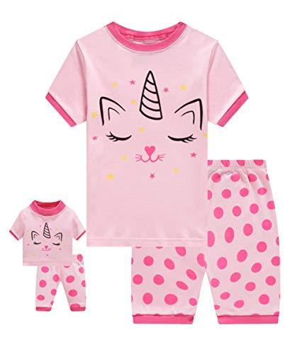 - Shorts Little Kids Pajamas Matching Doll & Girls Pajamas 100% Cotton Cat Pjs Set Size 6 Fits American Girl