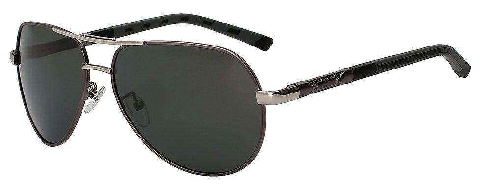 c19fc966ba TIANLIANG04 Mens gafas de sol polarizadas Retro Vintage gafas de sol Gafas  hombres diseñador experimental marca