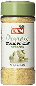Badia Organic Garlic Powder, 3-Ounce