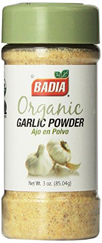 Badia Organic Garlic Powder, 3-Ounce ()