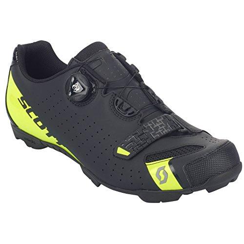 Boa Amarillo 48 Scott De Zapatillas Black 2018 Comp Mtb sulphur Negro Ciclismo Y Matt Yellow wZqCF