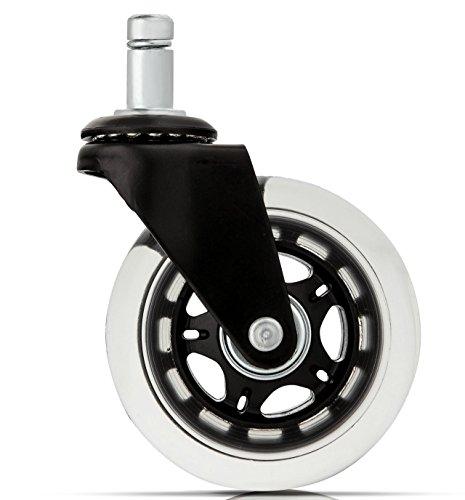 5 Inlineskaten Caster Räder für Ihr Zuhause oder Büro-Möbel (schwarzes Metall) Schwerlast
