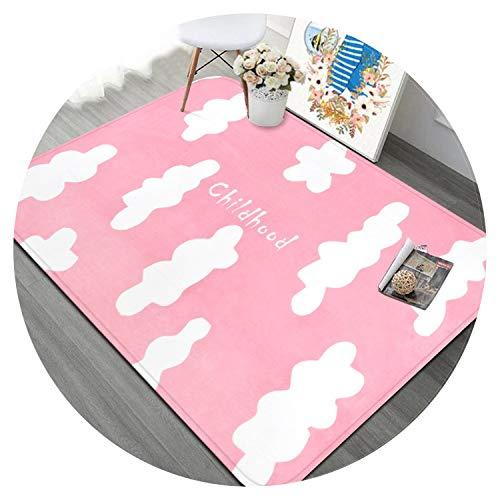 - Cartoon Clouds Carpet Kids Room Soft Living Room Carpets Home Decoration Bedroom Rug Study Room Floor Mat Children Crawling Rugs,Pink,160x230cm