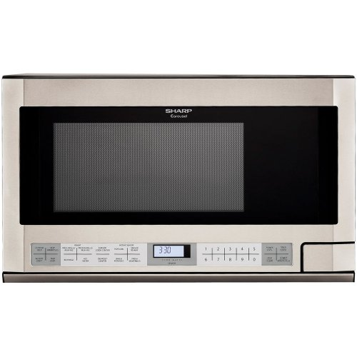 Sharp R-1214 1-1/2-Cubic Feet 1100-Watt Over-the-Counter Microwave, Stainless by SHARP